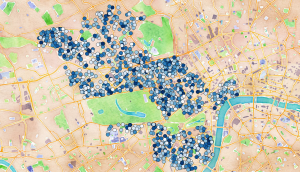 Westminster Parking Bays by Percentage Occupancy