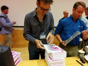 Book signing at EuroSciPy 2014