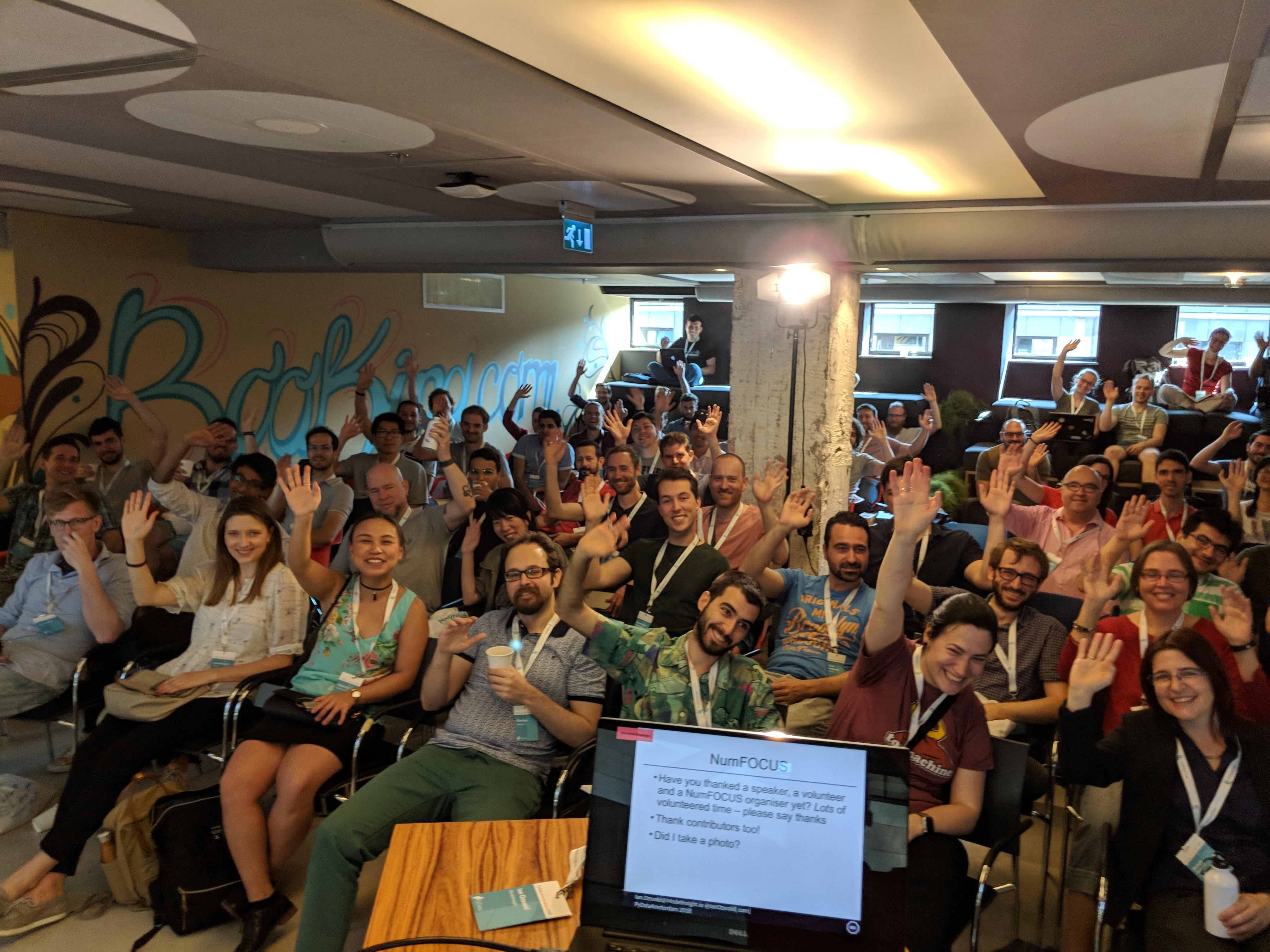Audience at PyDataAmsterdam 2018